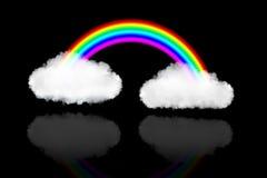 Δύο σύννεφα με το ουράνιο τόξο Στοκ εικόνες με δικαίωμα ελεύθερης χρήσης