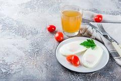Δύο τηγανισμένα αυγά για το πρόγευμα Στοκ Φωτογραφία