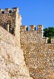 Δύο τοίχοι πετρών με μια διαφορετική τεκτονική Στοκ Εικόνες