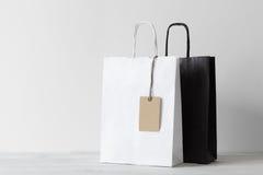 Δύο τσάντες αγορών Στοκ Εικόνες