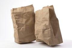 Δύο τσαλακωμένη τσάντα εγγράφου στοκ εικόνα