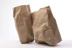 Δύο τσαλακωμένη τσάντα εγγράφου Στοκ εικόνα με δικαίωμα ελεύθερης χρήσης
