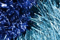 Δύο τύποι μπλε tinsel Στοκ Φωτογραφίες