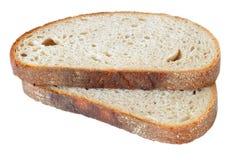 Δύο φέτες του χαρακτηριστικά τσεχικού ψωμιού Στοκ Εικόνες