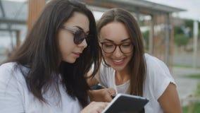 Δύο φίλοι διαβάζουν τα βιβλία υπαίθρια φιλμ μικρού μήκους