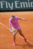 Δύο φορές πρωτοπόρος Βικτώρια Azarenka του Grand Slam της Λευκορωσίας στη δράση κατά τη διάρκεια της δεύτερης στρογγυλής αντιστοι Στοκ φωτογραφία με δικαίωμα ελεύθερης χρήσης