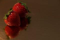 Δύο φράουλες Στοκ Φωτογραφία