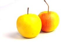 Δύο φρέσκα μήλα Στοκ φωτογραφία με δικαίωμα ελεύθερης χρήσης