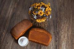 Δύο φραντζόλες σίκαλης του ψωμιού Στοκ φωτογραφία με δικαίωμα ελεύθερης χρήσης