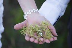 Δύο χέρια και ένα δαχτυλίδι Στοκ Εικόνες