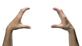 Δύο χέρια κρατούν το αντικείμενό σας στοκ εικόνες με δικαίωμα ελεύθερης χρήσης