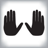 Δύο χέρια που παρουσιάζουν χειρονομία στάσεων ελεύθερη απεικόνιση δικαιώματος