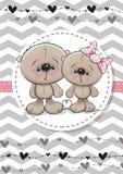 Δύο χαριτωμένες αρκούδες διανυσματική απεικόνιση