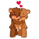 Δύο χαριτωμένος teddy απεικόνιση αποθεμάτων