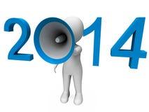 Δύο χιλιάες δεκατέσσερα δυνατό Hailer παρουσιάζουν έτος 2014 ελεύθερη απεικόνιση δικαιώματος