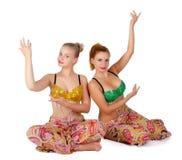 Δύο χορευτές κοιλιών Στοκ Φωτογραφία