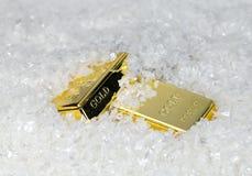 Δύο χρυσές ράβδοι Στοκ Εικόνες