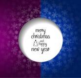 Δύο-χρωματισμένη Χαρούμενα Χριστούγεννα και ευχετήρια κάρτα καλής χρονιάς Ελεύθερη απεικόνιση δικαιώματος