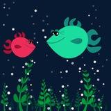 Δύο ψάρια στον πυθμένα της θάλασσας ελεύθερη απεικόνιση δικαιώματος