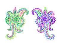 Δύο όμορφα paisleys Στοκ εικόνες με δικαίωμα ελεύθερης χρήσης
