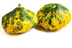 Δύο όμορφος ζωηρόχρωμος με το πράσινο και κίτρινο patty σημείων παν squ Στοκ Εικόνες