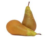Δύο ώριμα πράσινα αχλάδια () Στοκ Εικόνα