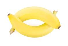 Δύο ώριμες μπανάνες Στοκ Εικόνες