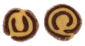 Δύο δίχρωμα μπισκότα Στοκ φωτογραφία με δικαίωμα ελεύθερης χρήσης