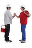 Δύο artisans που χαιρετούν το ένα το άλλο Στοκ Εικόνα