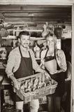 Δύο artisans στο εργαστήριο κεραμικής Στοκ Εικόνα