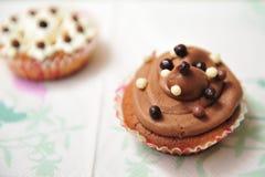 Δύο cupcakes στοκ εικόνα