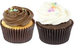 Δύο Cupcakes Στοκ φωτογραφίες με δικαίωμα ελεύθερης χρήσης