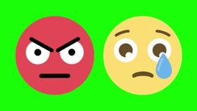 Δύο Emoticons για τις τρελλές και λυπημένες συγκινήσεις απεικόνιση αποθεμάτων
