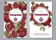Δύο hand-drawn φυλλάδια με τις χειροβομβίδες στοκ εικόνα με δικαίωμα ελεύθερης χρήσης