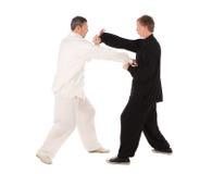 Δύο karate μαχητές Μαχητές fight Στοκ εικόνα με δικαίωμα ελεύθερης χρήσης