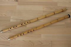 Δύο neys Φλάουτα καλάμων Τουρκικό όργανο μουσικής sufi Στοκ Εικόνες
