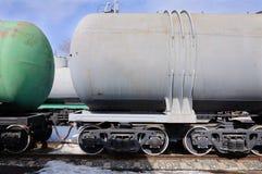 Δύο raiway φορτηγά πετρελαίου Στοκ εικόνα με δικαίωμα ελεύθερης χρήσης
