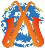 Δύο saxophones σε μια σταγόνα Στοκ φωτογραφίες με δικαίωμα ελεύθερης χρήσης