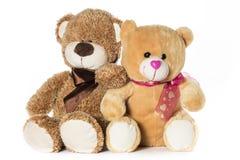 Δύο teddy αρκούδες Στοκ Εικόνες