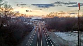 Δύση άποψης σε Atchison Κάνσας στοκ εικόνα με δικαίωμα ελεύθερης χρήσης