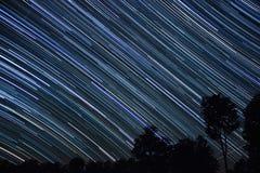 Δύση ιχνών αστεριών Στοκ εικόνα με δικαίωμα ελεύθερης χρήσης