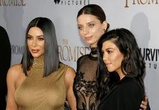 Δύση της Kim Kardashian, Angela Sarafyan και Kourtney Kardashian Στοκ Εικόνες