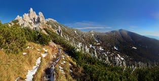 δύση tatras tatra βουνών μονοπατιών Στοκ φωτογραφία με δικαίωμα ελεύθερης χρήσης