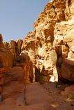 Δύσκολη έρημος της νότιας Ιορδανίας Στοκ Εικόνα