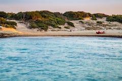 Δύσκολη ακτή της ακτής Apulian Στοκ φωτογραφίες με δικαίωμα ελεύθερης χρήσης