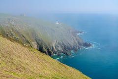Δύσκολη ακτή του νησιού Lundy από το Devon Στοκ φωτογραφία με δικαίωμα ελεύθερης χρήσης