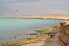 δύσκολη αμμώδης ακτή Στοκ φωτογραφία με δικαίωμα ελεύθερης χρήσης