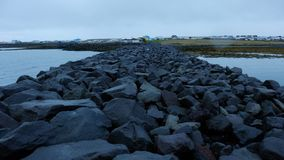 Δύσκολος κόλπος στην Ισλανδία Στοκ εικόνα με δικαίωμα ελεύθερης χρήσης