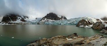 Δύσκολος κόλπος στο Βορρά του spitsbergen Στοκ εικόνα με δικαίωμα ελεύθερης χρήσης