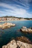 Δύσκολος κόλπος της Μεσογείου Lloret de Mar Στοκ φωτογραφίες με δικαίωμα ελεύθερης χρήσης